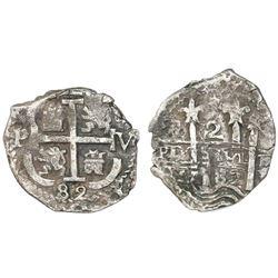 Potosi, Bolivia, cob 2 reales, 1682V.