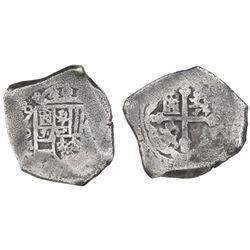 Mexico City, Mexico, cob 8 reales, (17)08J, rare.