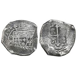 Mexico City, Mexico, cob 8 reales, (1)714J, ex-Real Eight.