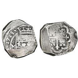 Mexico City, Mexico, cob 4 reales, 1715(J), rare.