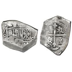 "Mexico City, Mexico, cob 4 reales, Philip V, assayer not visible, denomination as ""8"" (rare error),"