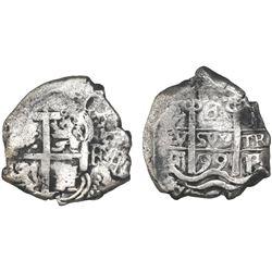 Potosi, Bolivia, cob 4 reales, 1699F.