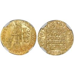 Utrecht, United Netherlands, gold ducat, 1729, NGC MS 65 / Vliegenthart, tied for finest known in NG