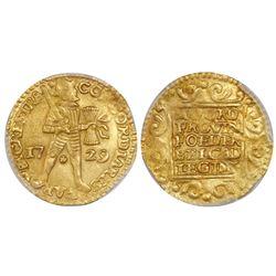 Utrecht, United Netherlands, gold ducat, 1729, PCGS MS62.
