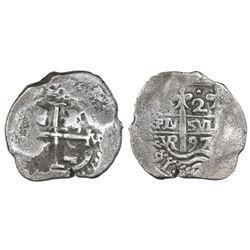 Potosi, Bolivia, cob 2 reales, 1697VR.
