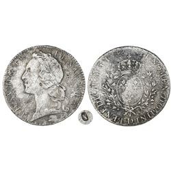 France (Lyon mint), ecu, Louis XV (large bust), 1748-D.