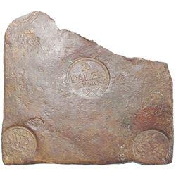 "Sweden (Avesta mint), copper ""plate money"" 2 dalers, Fredrik I, 1728."