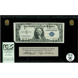 USA, $1 silver certificate, series 1935E, serial S39278440H, salvaged from the Andrea Doria (1956),