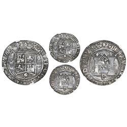 "Mexico City, Mexico, 4 reales, Charles-Joanna, ""Early Series,"" assayer P/R, PLVS in rhomboid panel w"