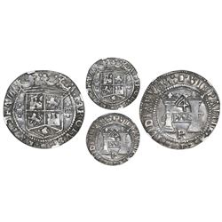 "Mexico City, Mexico, 4 reales, Charles-Joanna, ""Early Series,"" assayer P/R, PLVS in rhomboid panel w"