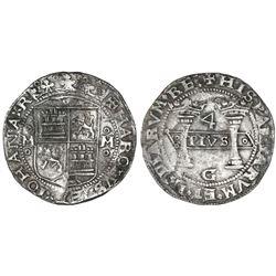 "Mexico City, Mexico, 4 reales, Charles-Joanna, ""Early Series,"" assayer G."