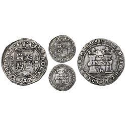 "Mexico City, Mexico, 3 reales, Charles-Joanna, ""Early Series,"" assayer R (Rincon) at bottom between"
