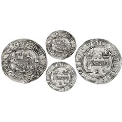 """Mexico City, Mexico, 2 reales, Charles-Joanna, """"Early Series,"""" assayer R (Gothic) at bottom below pi"""