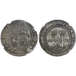 """Mexico City, Mexico, 4 reales, Charles-Joanna, """"Late Series,"""" assayer A/G to right, mintmark M to le"""