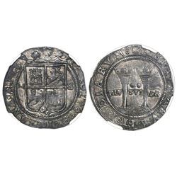 """Mexico City, Mexico, 2 reales, Charles-Joanna, """"Late Series,"""" assayer S to right, mintmark M to left"""
