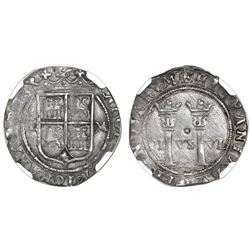 """Mexico City, Mexico, 1 real, Charles-Joanna, """"Late Series,"""" assayer L to left, mintmark M to right ("""