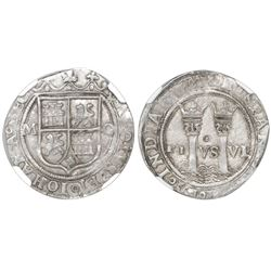 """Mexico City, Mexico, 1 real, Charles-Joanna, """"Late Series,"""" assayer O to right, mintmark M to left ("""