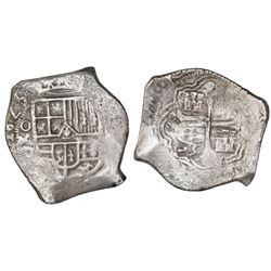 Mexico City, Mexico, cob 8 reales, 1623/1D, unique overdate.