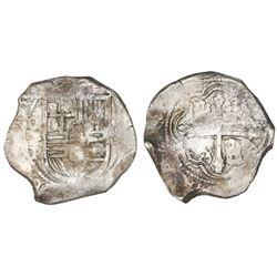 Mexico City, Mexico, cob 8 reales, 1635P, rare.