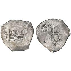 Mexico City, Mexico, cob 8 reales, (16)59P.