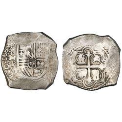 Mexico City, Mexico, cob 8 reales, 1661/0P, very rare.