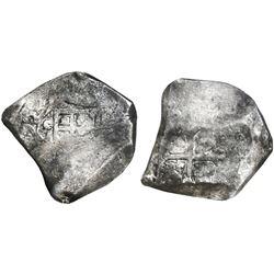 Mexico City, Mexico, cob 8 reales, (1)692(L), rare, ANACS F 15.