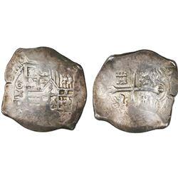 Mexico City, Mexico, cob 4 reales, (16)28/7D, rare.