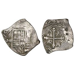 Mexico City, Mexico, cob 4 reales, (16)56P, with chopmarks as from circulation in Asia.