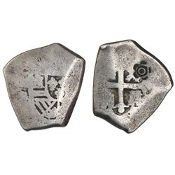 Mexico City, Mexico, cob 4 reales, Philip V, assayer R, with five-petal flower countermark (Sumenep