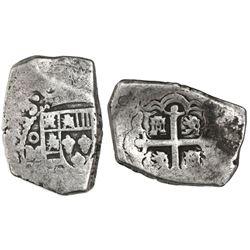 Mexico City, Mexico, cob 4 reales, 1733/2(F).