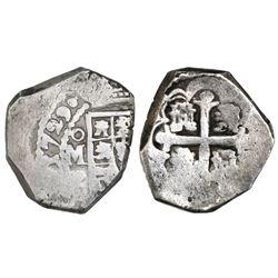 Mexico City, Mexico, cob 2 reales, 1729R.