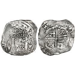 "Lima, Peru, cob 8 reales, 1659V, ""Star of Lima"" type (Series II), rare."