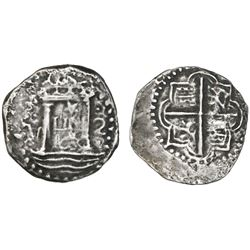 "Lima, Peru, cob 2 reales, 1659V, ""Star of Lima"" type (Series IA), very rare, ex-San Miguel (1659)."