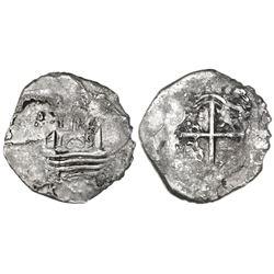 """Lima, Peru, cob 1 real, 1659V, """"Star of Lima"""" type (Series IA), rare."""