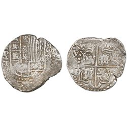 "Potosi, Bolivia, cob 8 reales, 1621T, quadrants of cross transposed, ex-""Panama hoard."""