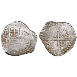 "Potosi, Bolivia, cob 8 reales, 1628P/T, ex-""Panama hoard."""