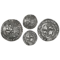 Potosi, Bolivia, cob 8 reales Royal (galano), 1638TR, denomination VIII, very rare.