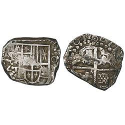 Potosi, Bolivia, cob 4 reales, 16(2)9T, rare.