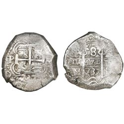 Potosi, Bolivia, cob 8 reales, 1737M, NGC MS 60.