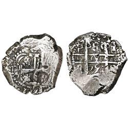 Potosi, Bolivia, cob 8 reales, 1751q/E.