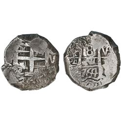 Potosi, Bolivia, cob 8 reales, 1764V-(Y).