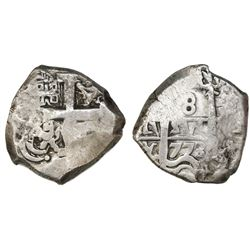 Potosi, Bolivia, cob 8 reales, 1773/2V-(Y).