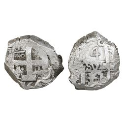 Potosi, Bolivia, cob 4 reales, 1766(V-Y).