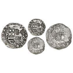 Panama, cob 2 reales, Philip II, assayer oB to right, mintmark AP above denomination II to left, ver