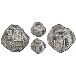 "Bogota, Colombia, cob 8 reales, 1665 date to right, assayer PoRS to left, with ""Golden Fleece"" count"