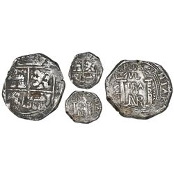 Bogota, Colombia, cob 8 reales, 1668(?), assayer Po.RS. to left, rare.