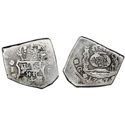 Guatemala, cob 8 reales, 1747J, rare, ex-Portola.