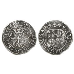 Seville, Spain (special issue struck for the Americas), 1 real, Ferdinand-Isabel, cruciform ornament