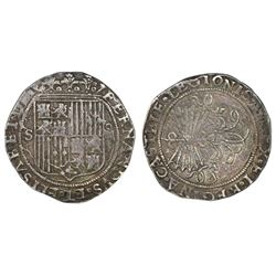 Seville, Spain, 4 reales, Ferdinand-Isabel, assayer Gothic D on reverse.