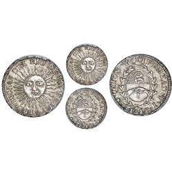 Argentina (River Plate Provinces), 1/2 real, 1813J, Potosi mint, PCGS AU58.